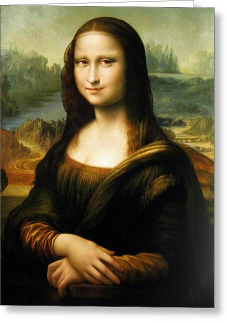 Maestro Greeting Cards -  Mona Lisa Greeting Card by Yoo Choong Yeul