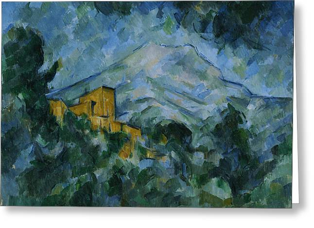 Victoire Paintings Greeting Cards -  Mont Sainte Victoire and Chateau Noir Greeting Card by Paul Cezanne