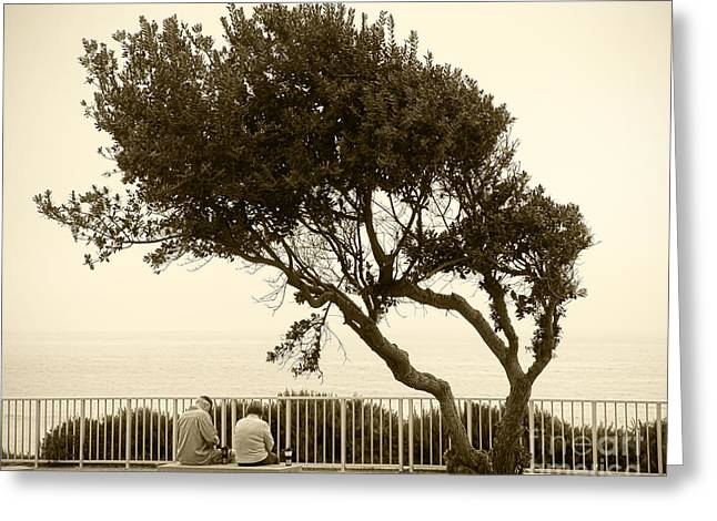 Morning Coffee Together Greeting Card by Artist and Photographer Laura Wrede