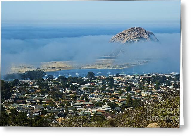 Morro Rock At Morro Bay 3 Greeting Card by Micah May