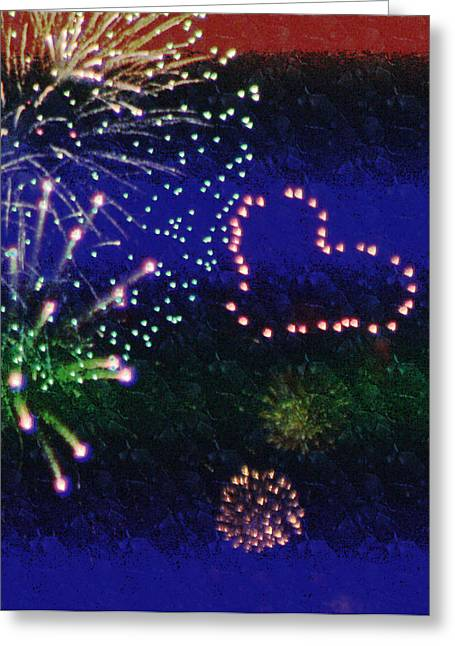 Independance Day Greeting Cards -  My 4th Of July Greeting Card by Janie Johnson
