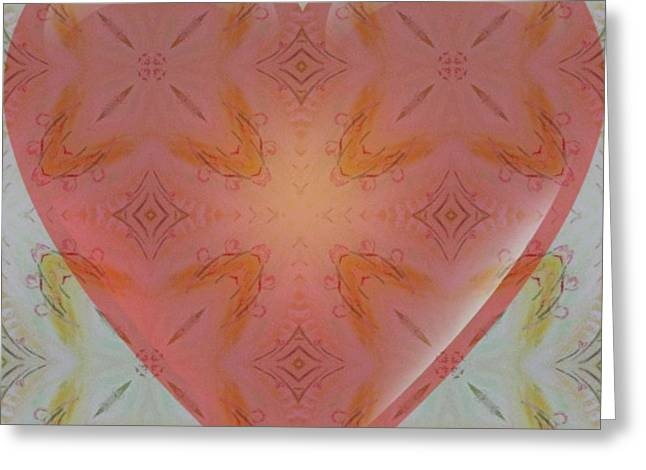 Print Tapestries - Textiles Greeting Cards -  MY HEART BELONGS TO YOU VALENTINE GALLERY number 4 Greeting Card by PainterArtist FIN
