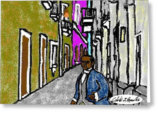 Puerto Rico Mixed Media Greeting Cards -  My Name Is Jose Campeche Greeting Card by Cibeles Gonzalez