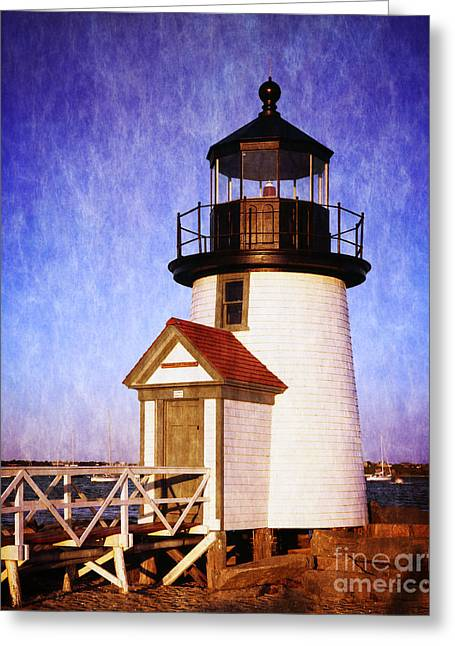 Brant Point Greeting Cards -  Nantucket Harbor Light House Greeting Card by Heinz G Mielke