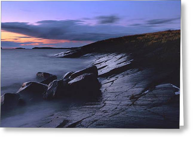 Banks Greeting Cards -  National Park VALAAMSKY Greeting Card by Anonymous