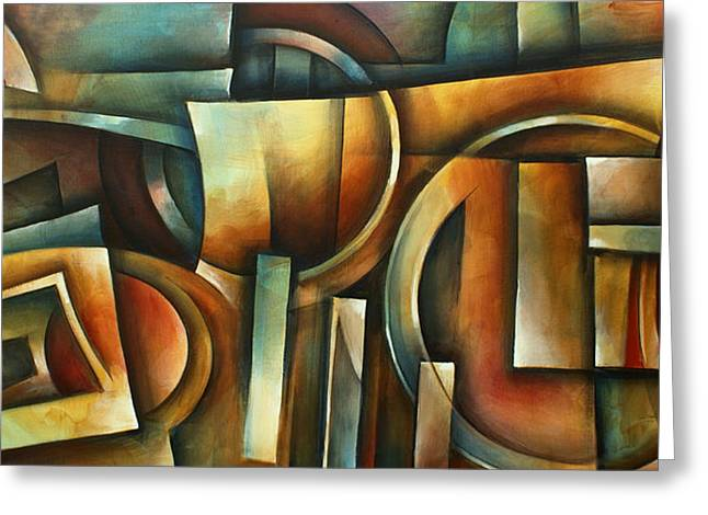 ' Natural Position' Greeting Card by Michael Lang