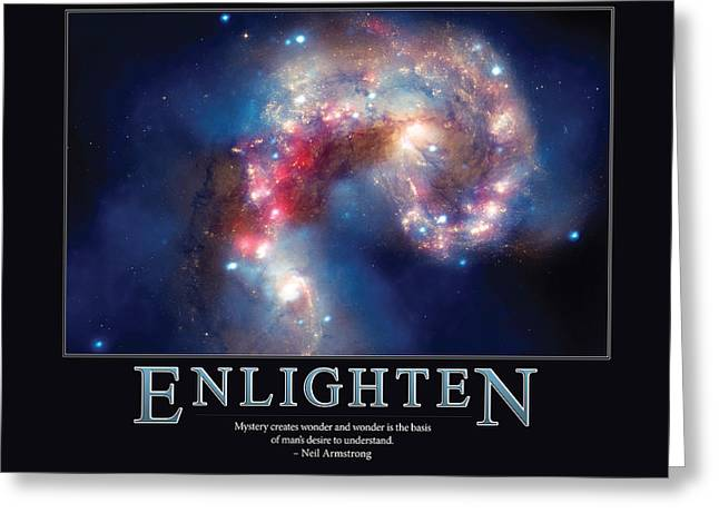 Enlightening Greeting Cards -  Neil Armstrong Enlighten Greeting Card by Retro Images Archive