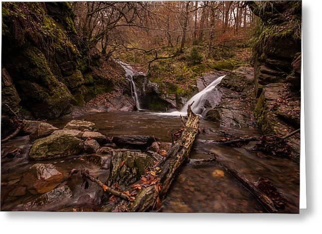 Herfst Greeting Cards -  Ninglinspo Waterfalls Greeting Card by Bert Beckers