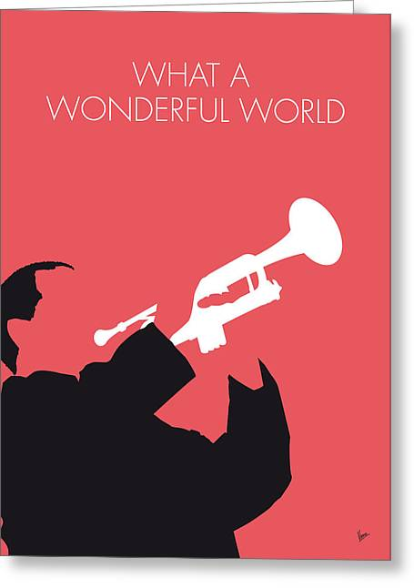 No012 My Louis Armstrong Minimal Music Poster Greeting Card by Chungkong Art
