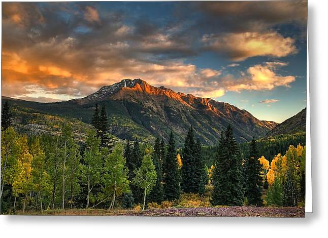 Silverton Greeting Cards -  North Twilight Peak Greeting Card by Ken Smith