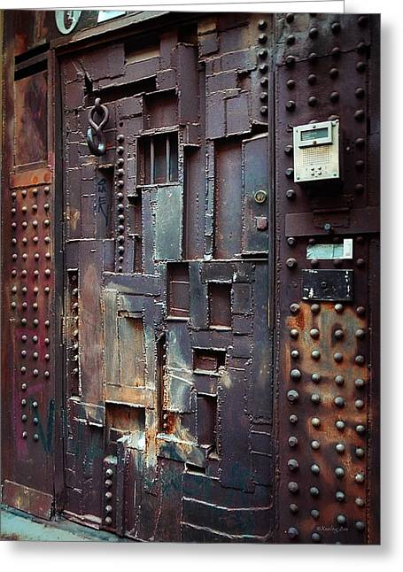Dungeons Greeting Cards -  NYC Designers Dungeon Door Greeting Card by Xueling Zou
