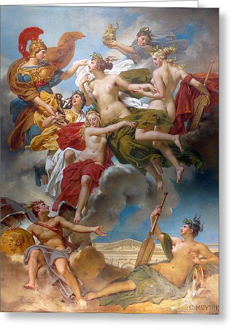 Conducting Greeting Cards -  Nymphs of Parthenope Greeting Card by Charles Meynier