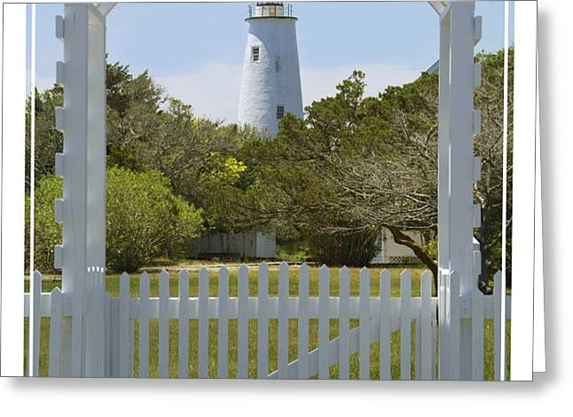 Ocracoke Island Lighthouse Greeting Card by Mike McGlothlen