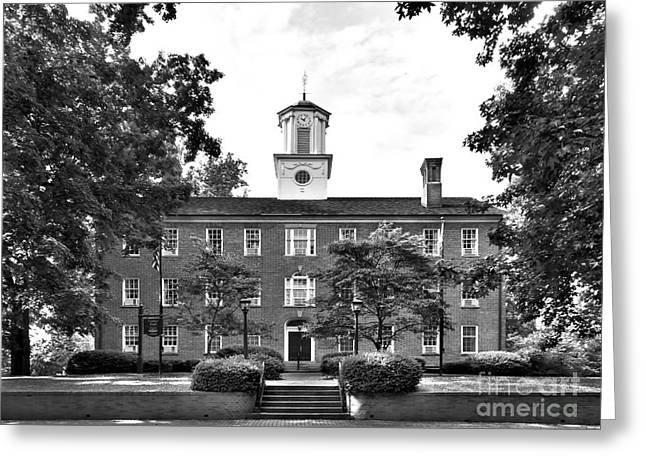 Best Sellers -  - Bobcats Photographs Greeting Cards -  Ohio University Cutler Hall Greeting Card by University Icons
