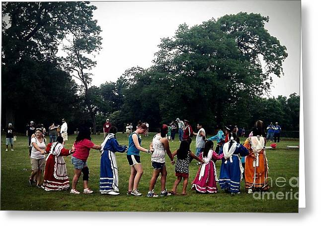 R. Mclellan Photography Greeting Cards -  Oklahoma Choctaw Youth Dancing Greeting Card by R McLellan