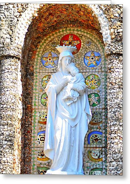 Virgin Mary Greeting Cards -  Our Lady of Perpetual Help Mary and Jesus Greeting Card by Peggy  Franz