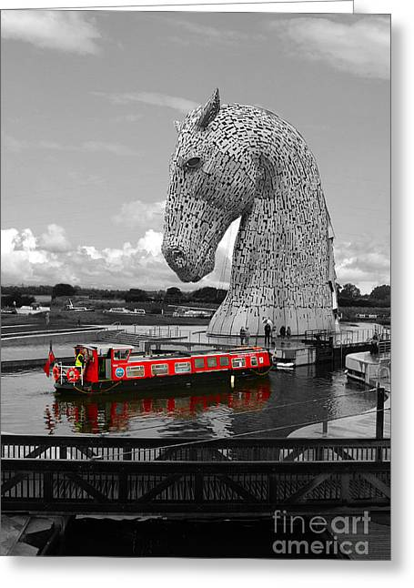 Helix Greeting Cards -  Overlooked by a Kelpie Greeting Card by JM Braat Photography
