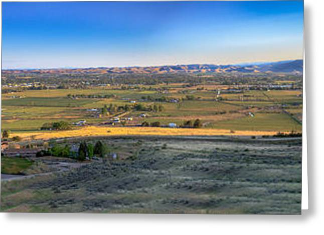 Landsacape Greeting Cards -  Panoramic Emmett Valley Greeting Card by Robert Bales