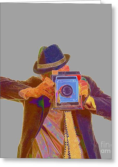 Journalist Greeting Cards -  Paparazzi Greeting Card by Edward Fielding