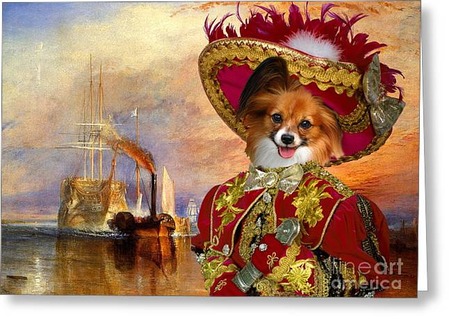 Papillon Dog Greeting Cards -  Papillon Dog - Continental Toy Spaniel Art Canvas Print Greeting Card by Sandra Sij