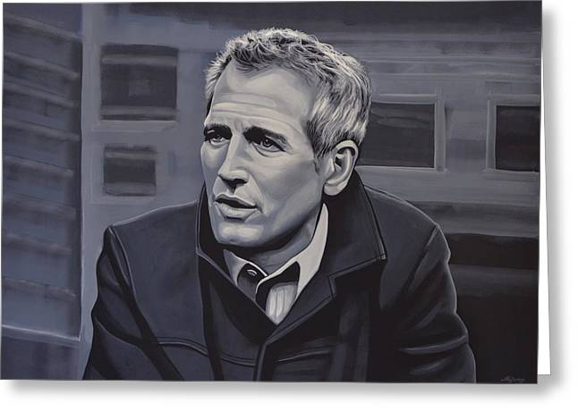 Paul Newman Greeting Card by Paul Meijering