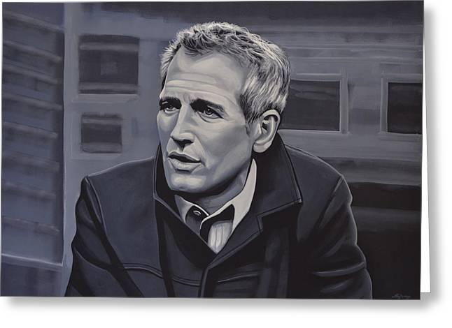 Paul Newman Greeting Card by Paul Meijering