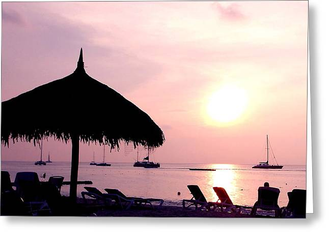 Zelma Hensel Greeting Cards -  Peaceful Evening on the Beach Greeting Card by Zelma Hensel