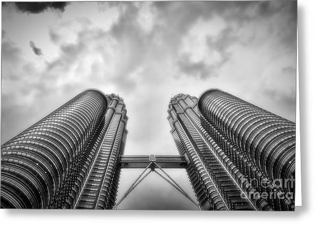 Asien Greeting Cards -  Petronas Tower Greeting Card by Joerg Lingnau