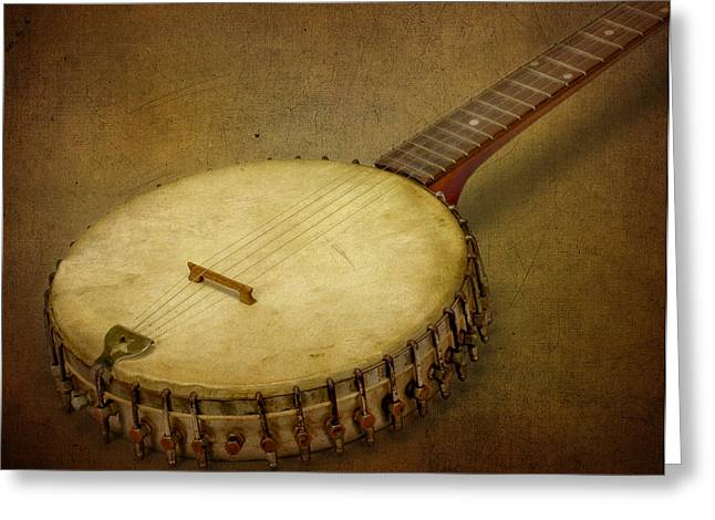 Fretboard Greeting Cards -  Pickin Time Greeting Card by David and Carol Kelly