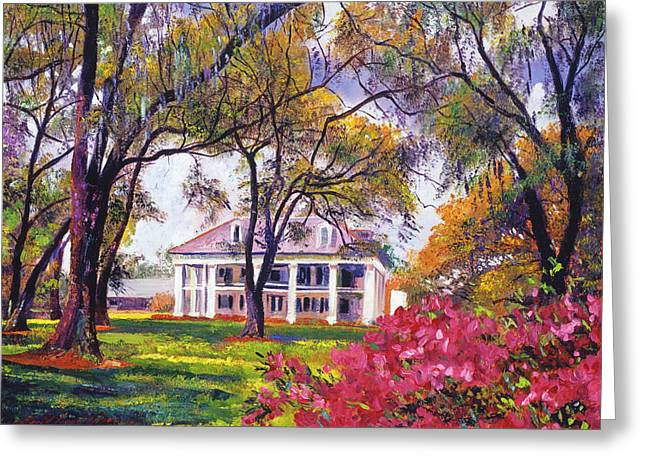 Architectural Landmarks Greeting Cards -  Plantation Spring Greeting Card by David Lloyd Glover