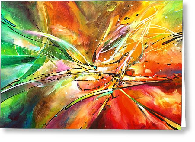 Spectrum Paintings Greeting Cards -  POINT of NO RETURN Greeting Card by Michael Lang