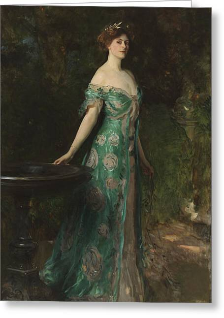 Full-length Portrait Greeting Cards -  Portrait of Millicent Leveson-Gower - Duchess of Sutherland Greeting Card by John Singer Sargent