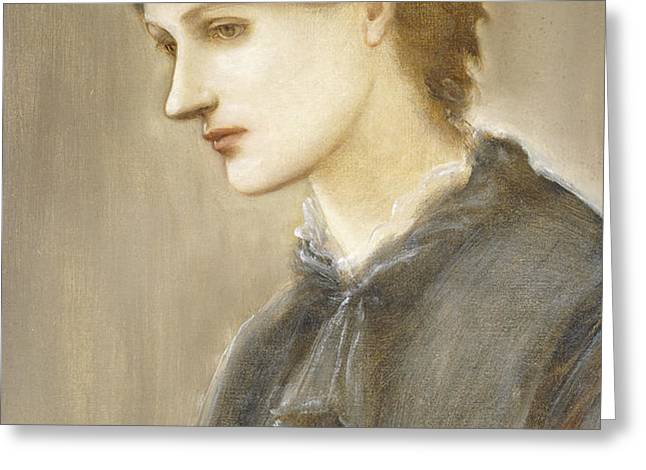 Portrait of Mrs William J Stillman nee Marie Spartali Greeting Card by Sir Edward Coley Burne Jones