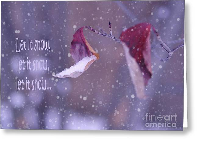Shades Of Red Greeting Cards -  Purple Winter Greeting Card by Irina Wardas