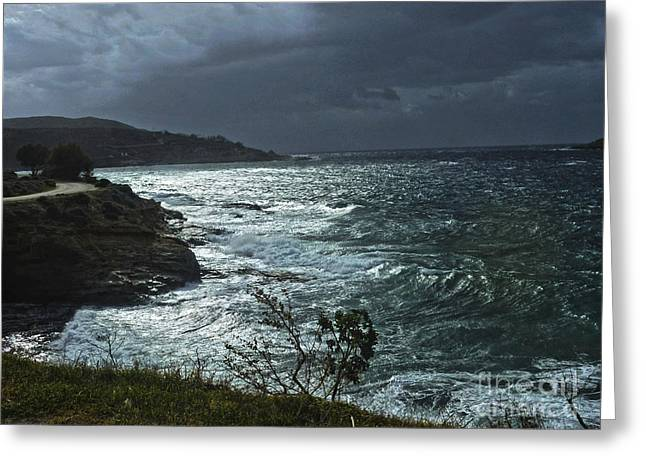 Summer Storm Greeting Cards -  Quiet Before The Storm Greeting Card by Eleni Mac Synodinos