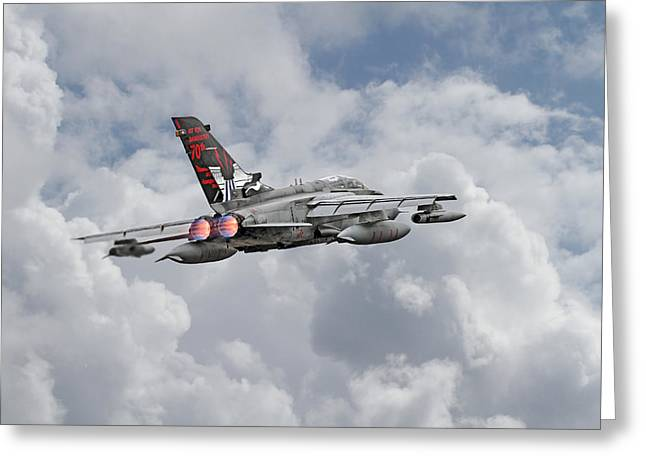 Tornado Greeting Cards -  RAF Tornado - 617 Squadron Greeting Card by Pat Speirs