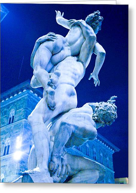 Florence Sculptures Greeting Cards -  Ratto Delle Sabine Greeting Card by Aven  Dawson