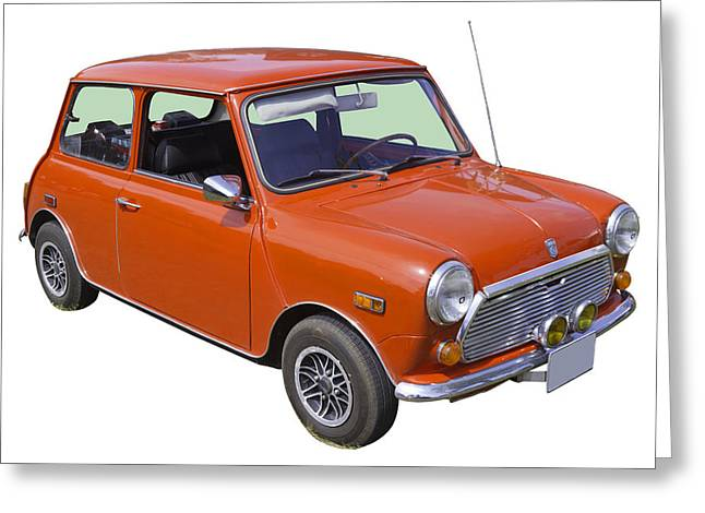 English Car Greeting Cards -  Red Mini Cooper Greeting Card by Keith Webber Jr