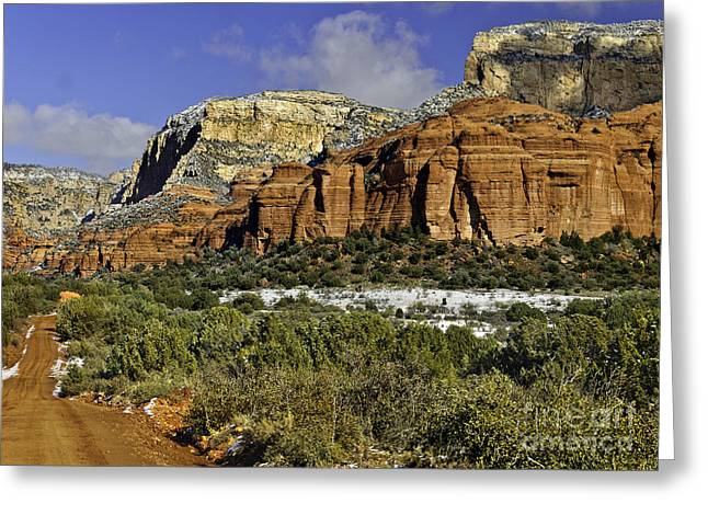 Oak Creek Digital Greeting Cards -  Red Rock-Secret Mountain Wilderness Greeting Card by  Bob and Nadine Johnston