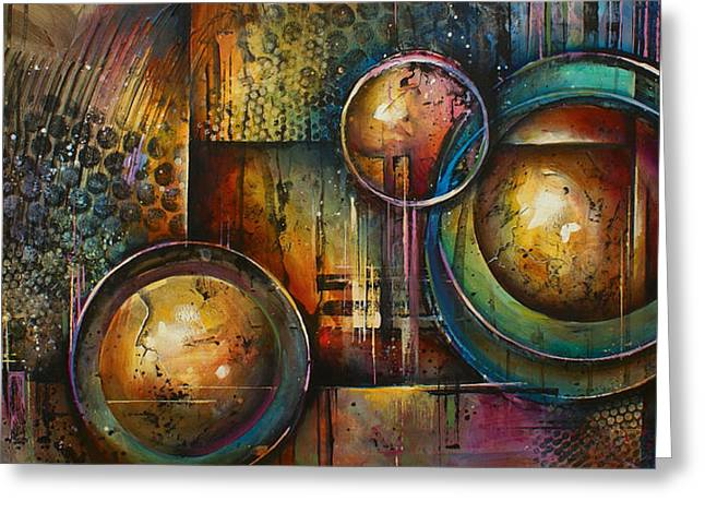 Geometric Design Greeting Cards -  Remaining Elements Greeting Card by Michael Lang