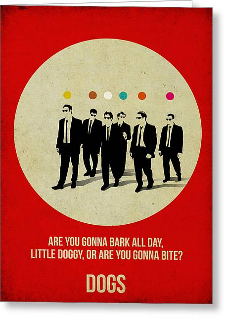 Tarantino Greeting Cards -  Reservoir Dogs Poster Greeting Card by Naxart Studio