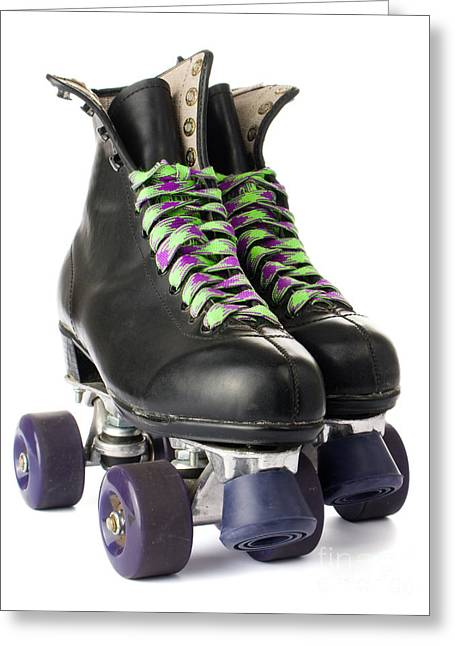 Old Skates Photographs Greeting Cards -  Retro roller skates Greeting Card by Jose Elias - Sofia Pereira