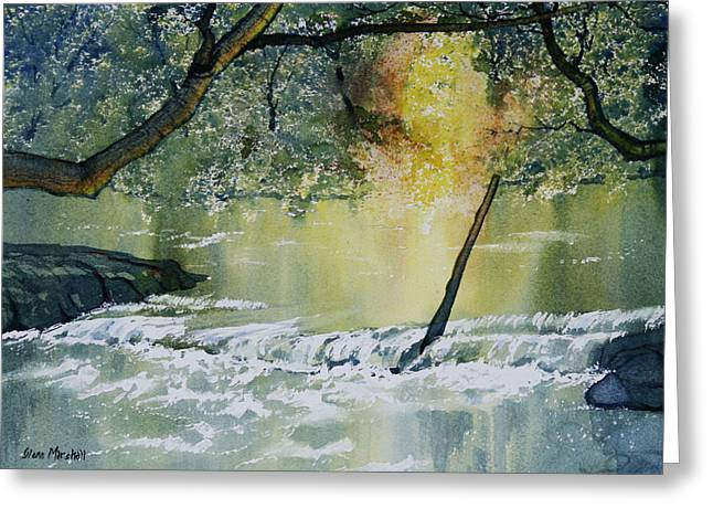 River Esk In Full Flow Greeting Card by Glenn Marshall