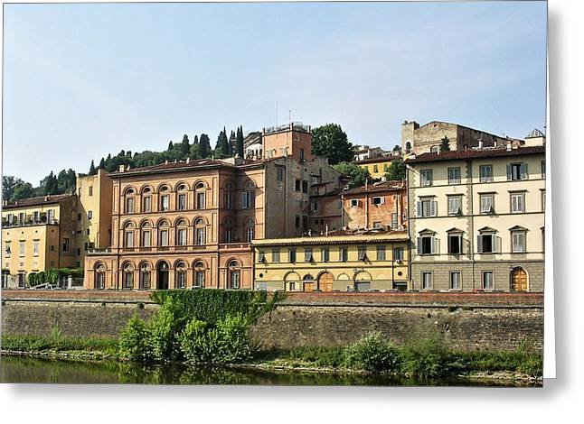 Firenza Greeting Cards -  Riverside Buildings in Florence Greeting Card by Paul Williams