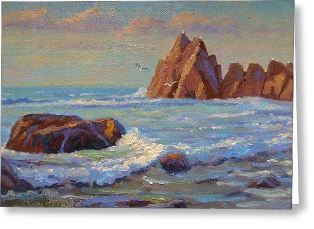 Rocks West Coast Greeting Card by Terry Perham