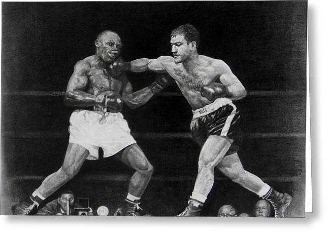 Marciano Greeting Cards -  Rocky Marciano Greeting Card by Noe Peralez