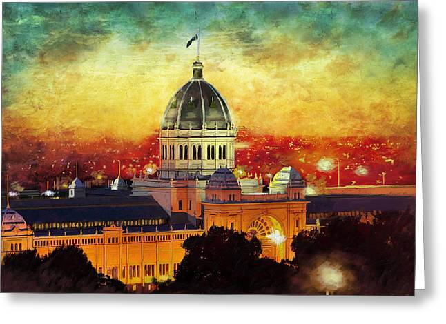 Howe Greeting Cards -  Royal Exhibition Building Greeting Card by Catf
