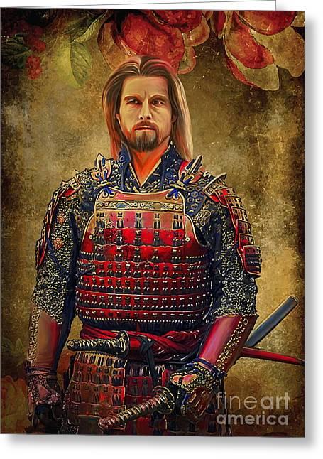 Samurai Greeting Card by Andrzej Szczerski