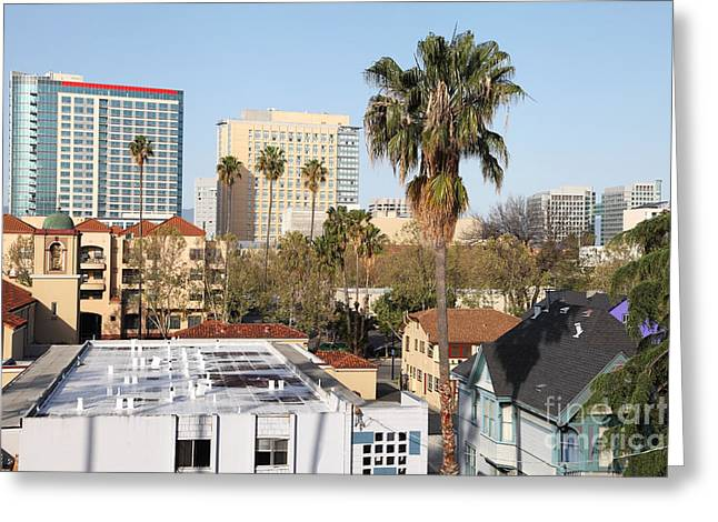 Downtown San Francisco Greeting Cards -  San Jose California Greeting Card by Denis Tangney Jr