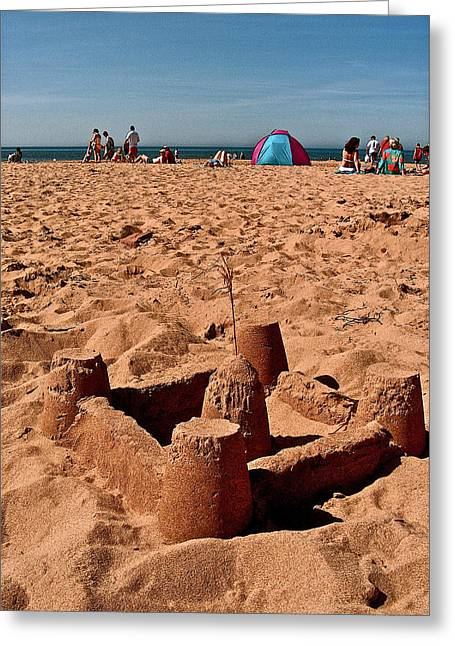 Sand Castles Digital Art Greeting Cards -  Sand Castle on Cavendish Beach in PEI National Park Greeting Card by Ruth Hager